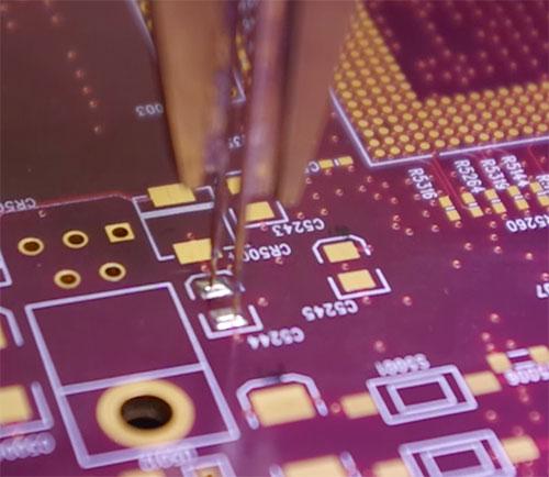 locate short circuits on bare board