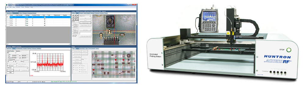 Access RF Prober and Huntron Workstation software